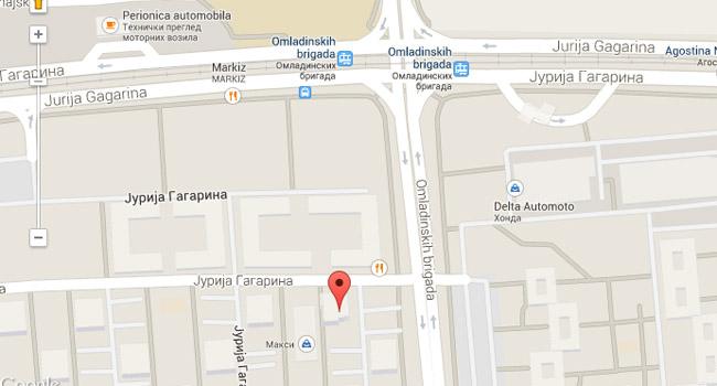 Jurija Gagarina Beograd Mapa Superjoden